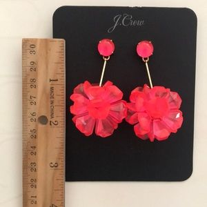 NET J.Crew Flower Earrings